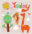 Today is 1 Holiday card vector image