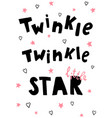 twinkle let vector image vector image