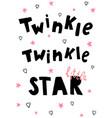 twinkle let vector image
