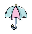 umbrella open to protection the natural weather vector image vector image
