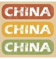 Vintage China stamp set vector image