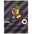 wine color isometric poster vector image