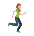 woman jogging teenager in sport apparel vector image vector image