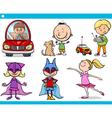 cute little children cartoon set vector image