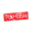 for sale red grunge rubber stamp vector image