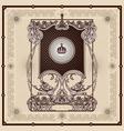 antique border frame engraving vector image