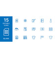 15 blank icons vector image vector image