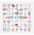 49 hand drawing doodle icon set vector image vector image
