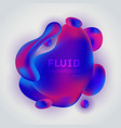 abstract fluid pink and blue gradient shape vector image vector image