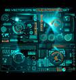 Abstract future concept futuristic blue vector image