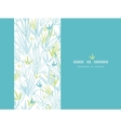 Blue bamboo branches vertical decor background vector image
