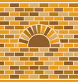 brick oven and wall background vector image vector image