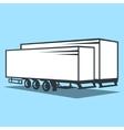 Cargo Trailer sign vector image
