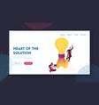 characters creativity think outside landing page vector image