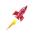 children rocket soaring up launch of space vector image
