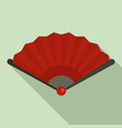 china hand fan icon flat style vector image vector image