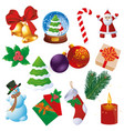 christmas element set vector image