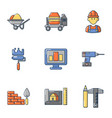 civil icons set cartoon style vector image vector image