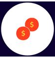 Coins computer symbol vector image vector image