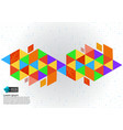 colorful geometric abstract background vector image vector image
