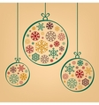 Colorful vintage Christmas balls from snowflakes vector image vector image