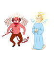 devil and angel vector image vector image