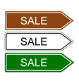 Direction sign sale vector image vector image