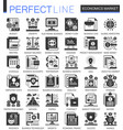 economics market black mini concept icons vector image