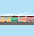 europe city street set 6 multi-colored vector image vector image