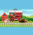 farmer at farmland vector image vector image