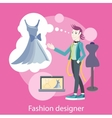 Fashion Designer vector image