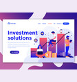 flat modern design of wesite template - investment vector image vector image
