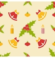 Flat seamless pattern with bells and decorations vector image vector image