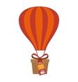 giftbox present flying icon vector image