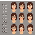 glasses shapes 1 vector image vector image