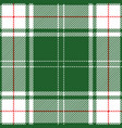green and red tartan plaid scottish pattern vector image vector image
