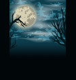 halloween scary vintage background vector image vector image