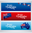 happy australia day celebration vector image