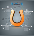 horseshoe four line - business infographic vector image vector image