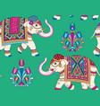 indian elephants pattern vector image vector image