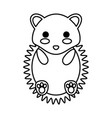 kawaii animal icon vector image vector image