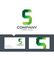 letter s - logo design vector image