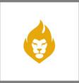 lion head logo design face elegant icon vector image vector image