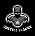 logo superhero superman costume justice league vector image vector image
