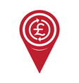 map pin pointer money pound icon gbp currency vector image vector image