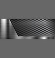 metal 3d background with perforation vector image
