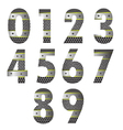 metal number vector image vector image
