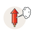 Old factory steam whistle red horn icon vector image vector image