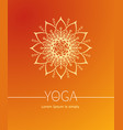 orange poster or cover for yoga or wellness vector image