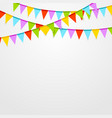 Party flags celebrate bright abstract background vector image